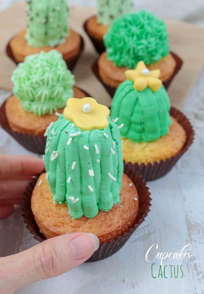 comment faire cupcakes cactus