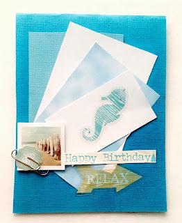 birthday done coastal style handmade card