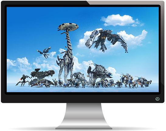 Horizon Zero Dawn Machines PS4 - Fond d'écran en Full HD 1080p
