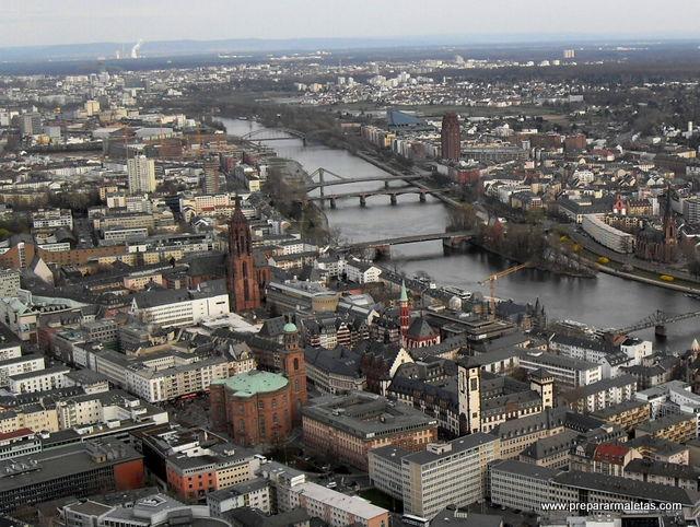 Vista aérea de Frankfurt