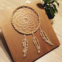acchiappasogni in string art