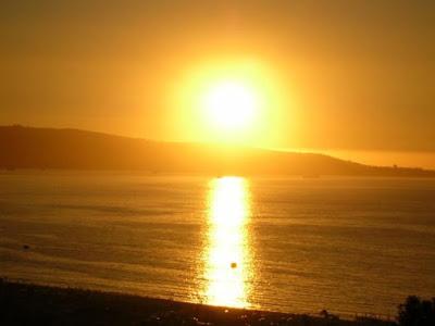 Foto del sol antes de ocultarse