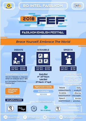 Event FASILKOM English Festival (FEF) 2018 Unsri
