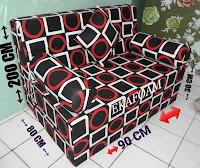 Sofa bed inoac no 5 single untuk satu orang