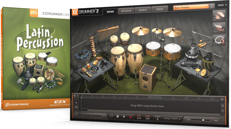 ezdrummer latin percussion download
