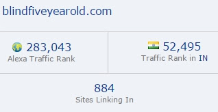 Blind Five Year Old blog ranking