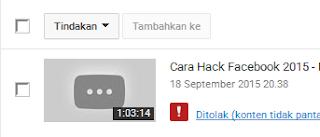 Tutorial Yang di Tolak Youtube Mentah Mentah