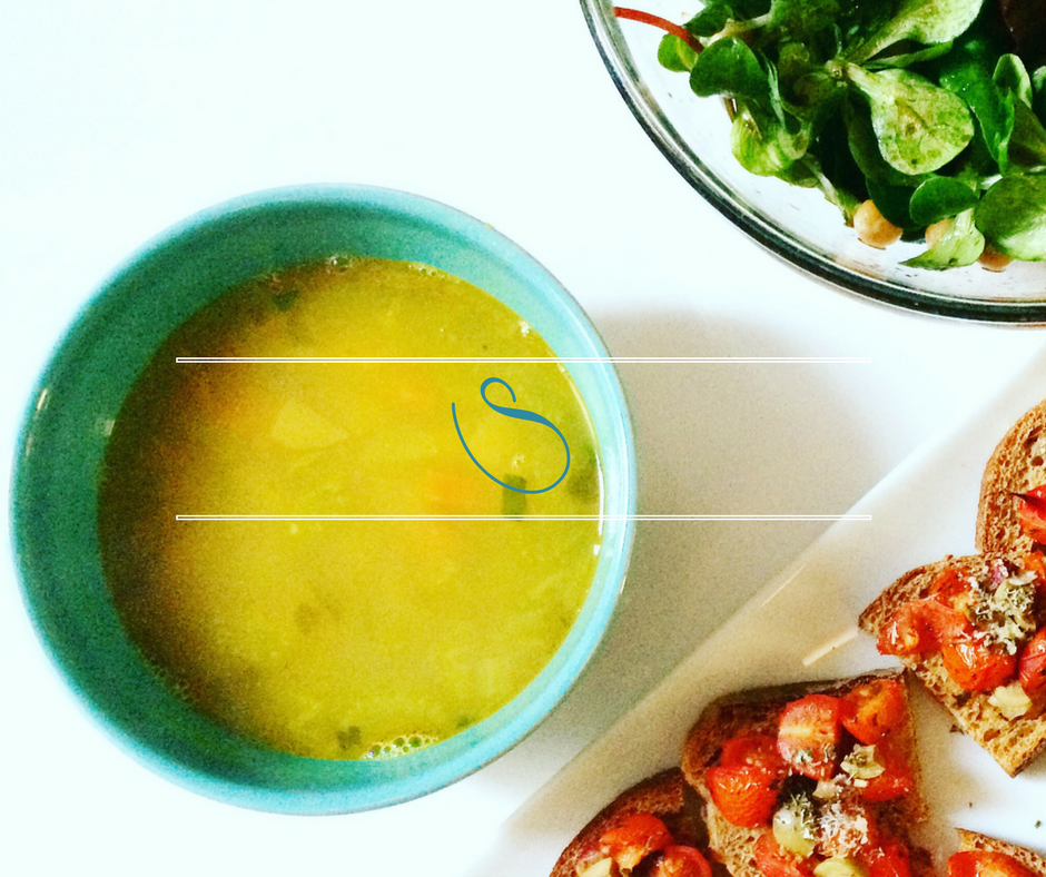 #Healthy Tunisian Turmeric & vegetable soup | Soupe Tunisienne au Curcuma & légumes | Broudou
