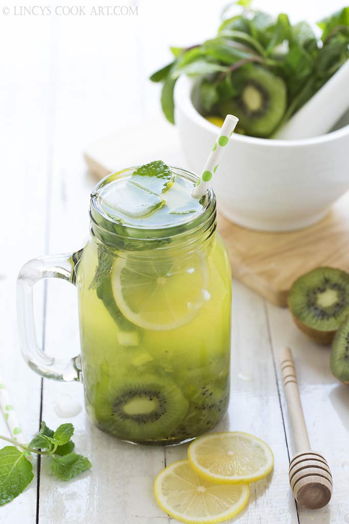 Kiwi mojito mocktail recipe