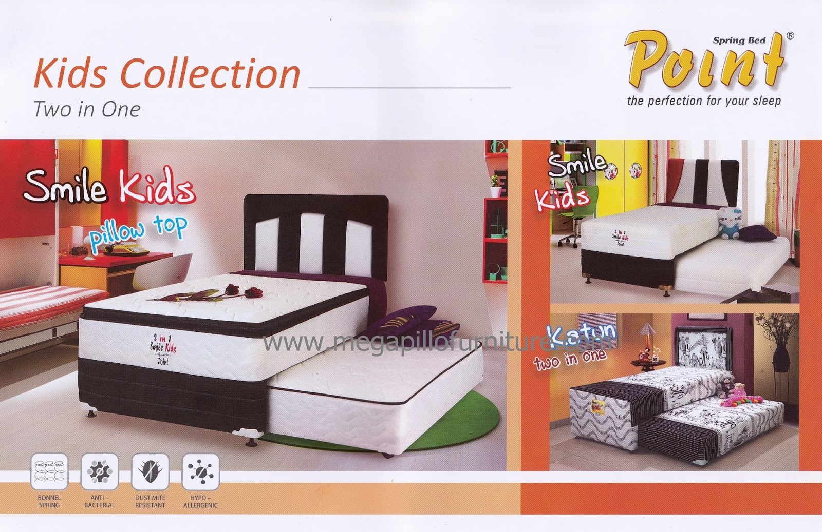 two in one furniture. Spring Bed Point - Two In One Smile Kids Furniture