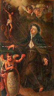 A painting by an unidentified artist of Veronica receiving the stigmata