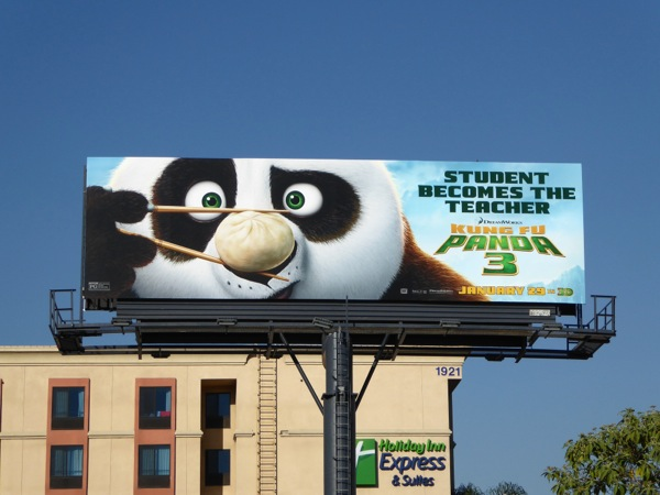 Kung Fu Panda 3 movie billboard