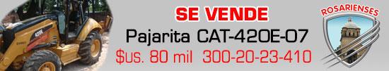 Vendo Retroexcavadora CAT-420E / 07 en 80mil dóleres mas IVA en Villa del Rosario www.rosarienses.com