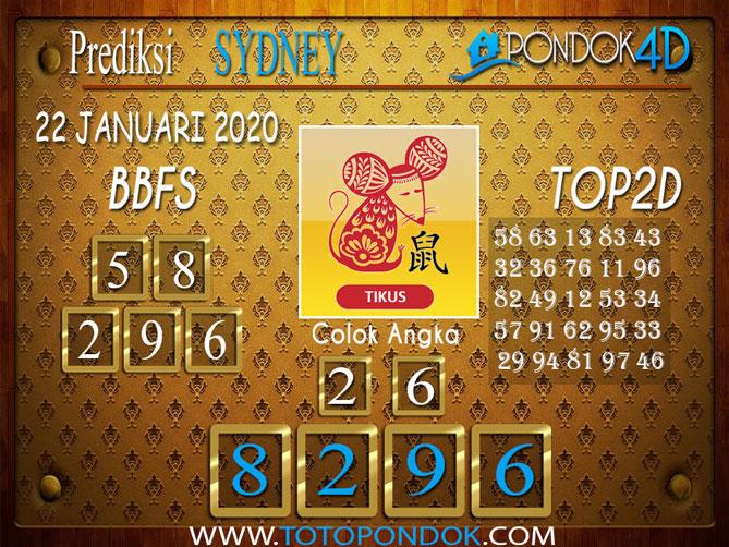 Prediksi Togel SYDNEY PONDOK4D 22 JANUARI 2020