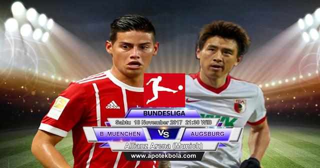 Prediksi Bayern Munchen vs Augsburg 18 November 2017