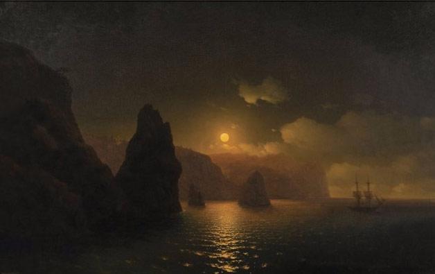 Мыс Фиолент. Картина Айвазовского