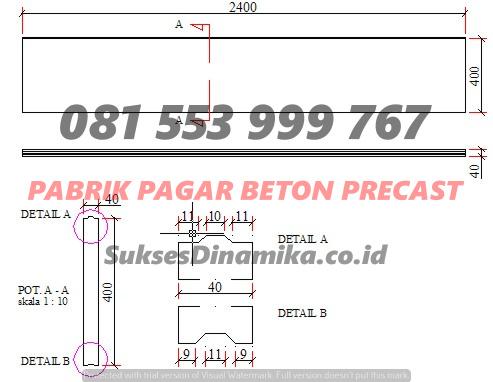 Harga Panel Pagar Beton Ringan Surabaya, Waskita Beton Precast