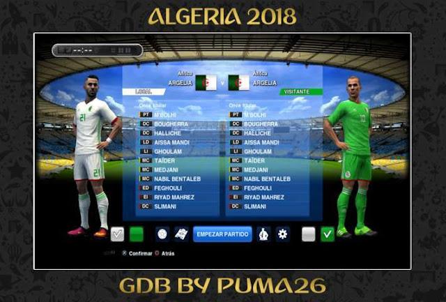 Algeria 2018 Kit PES 2013