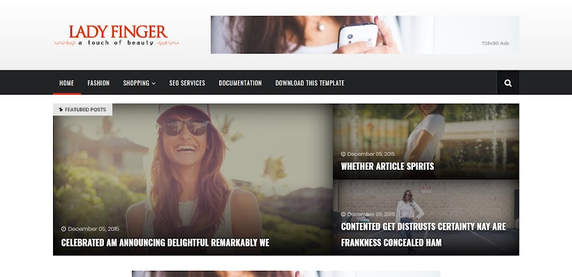 Lady Finger Free Blogger Template