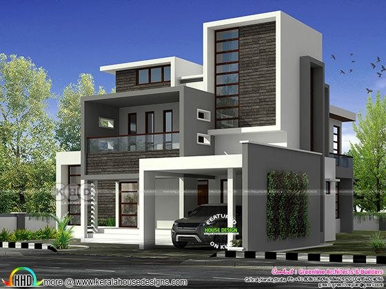 4 bedroom flat roof home 3001 sq-ft