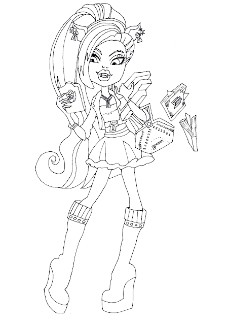 Clawdeen Wolf Scaremester Coloring Page