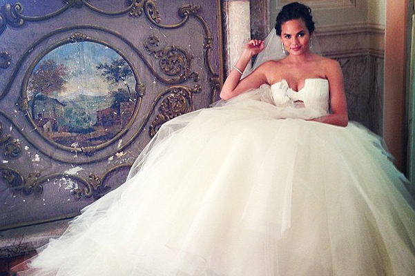 Wedding Dress Chrissy Teigen