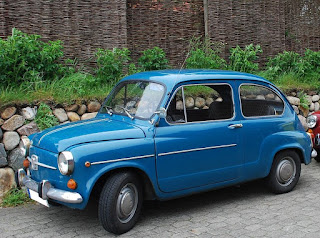 Giacosa's Fiat 600 was a bigger version of the Fiat 500 but with space for four adults and some luggage