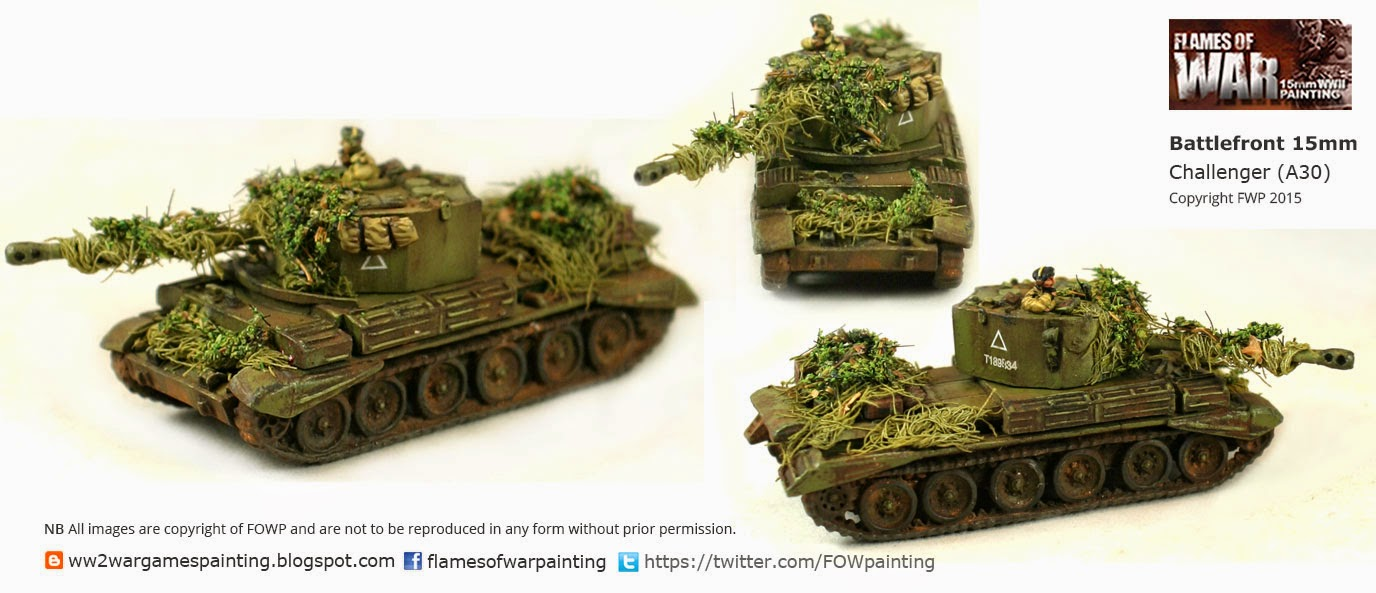 ww2 British tanks Painted Challenger-(A30)1 by FOWP Flames of war painting