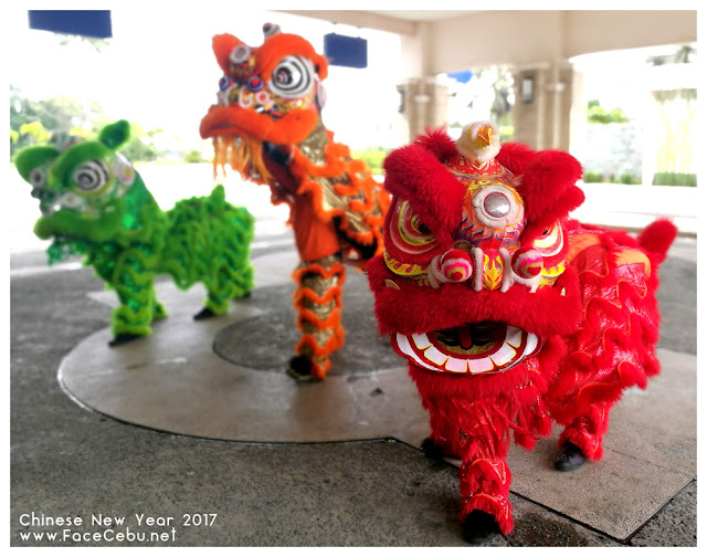 Lion Dance at the main entrance of Waterfront Airport Hotel and Casino