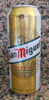 lata de cerveza san miguel