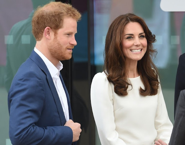 Catherine, Duchess of Cambridge and Prince Harry attend the launch of Heads Together Campaign