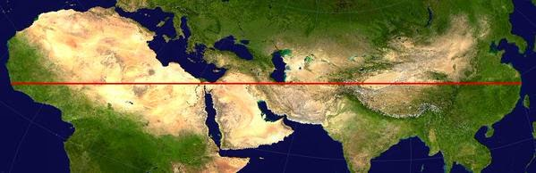 Longest straight line you can walk without hitting the ocean
