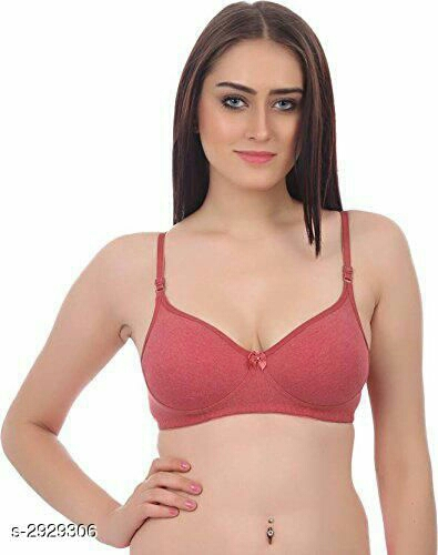 Comfy Women's Cotton Padded Women's Solid Bra