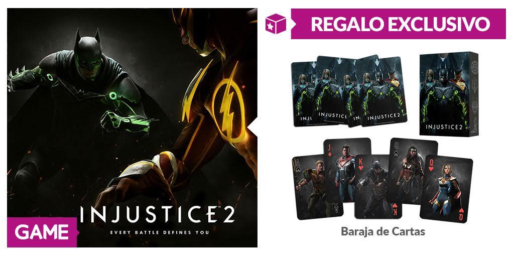 GAME juega sus cartas sorprendiendo con una baraja como obsequio al reservar Injustice 2