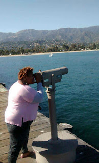 telescope, santa barbara, pier