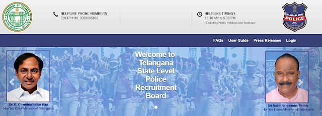@tslprb.in : Telangana State Level Police Recruitment 2018 Hall Tickets @www.tslprb.in