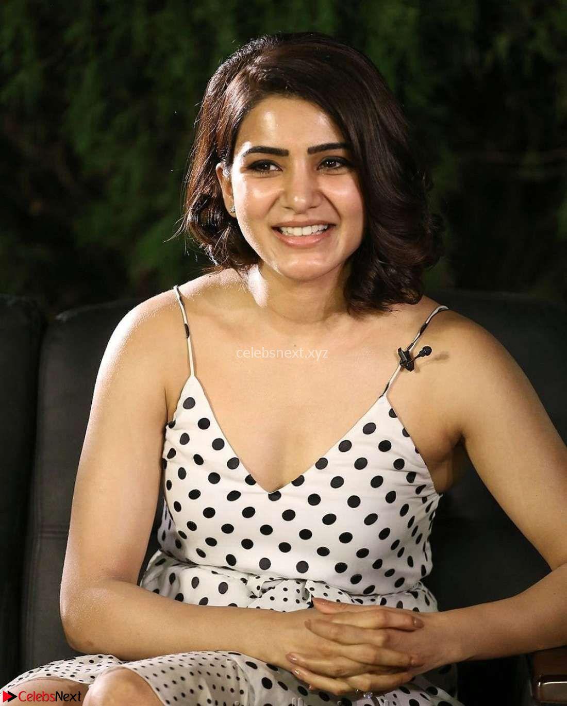Samantha Ruth Prabhu looks super cute in a deep neck sleeveless short dress ~ CelebsNext Exclusive
