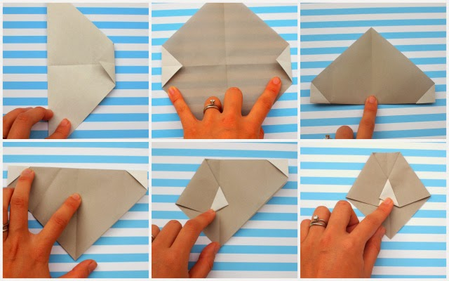 how to fold origami faces with kids- steps 7-12