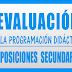 EVALUACIÓN PROGRAMACIÓN DIDÁCTICA OPOSICIONES SECUNDARIA 2019-2020