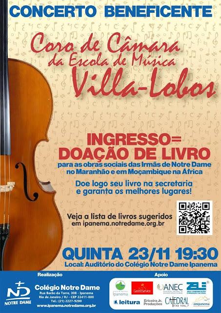 Notre Dame concerto com Villa-Lobos