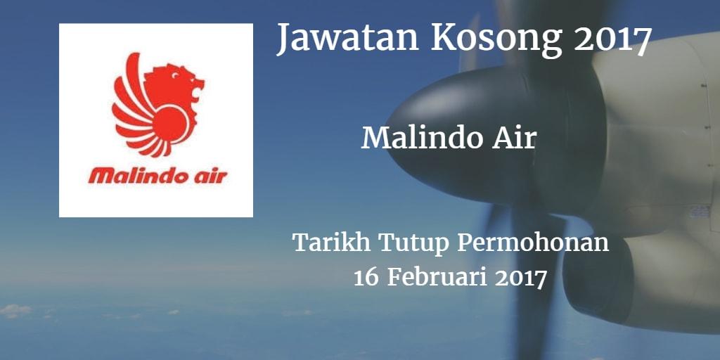 Jawatan Kosong Malindo Air 16 Februari 2017