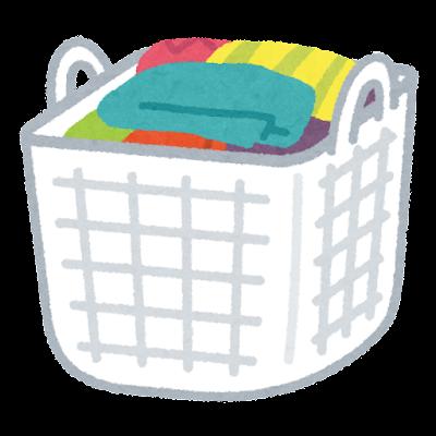 洗濯カゴのイラスト