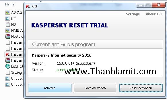 tool reset kaspersky 2016