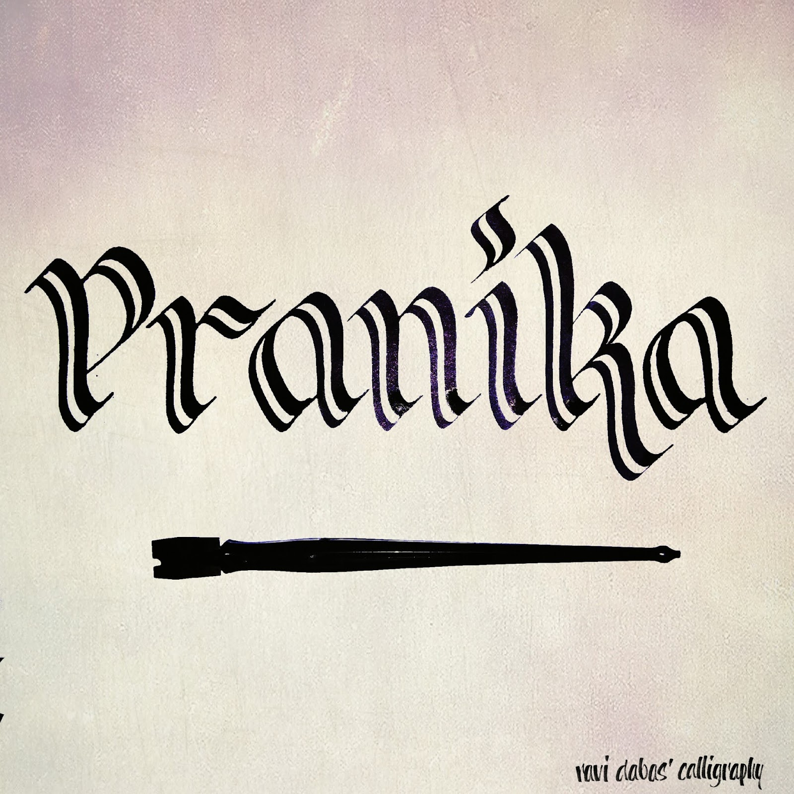 Welcome to my leisure pranika calligraphy pen