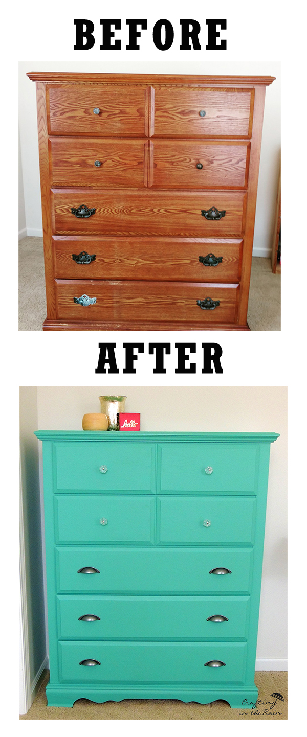 Teal Painted Dresser Crafting In The Rain