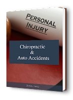 blog picture of book with words personal injury chiropractic & auto accidents