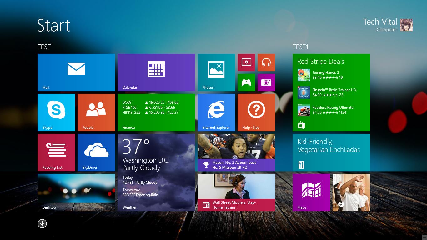 Software Hub  How To Change Windows 8 1 Start Background