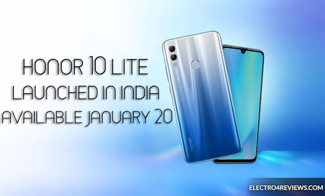 Honor 10 Lite launched in India, on hand January 20