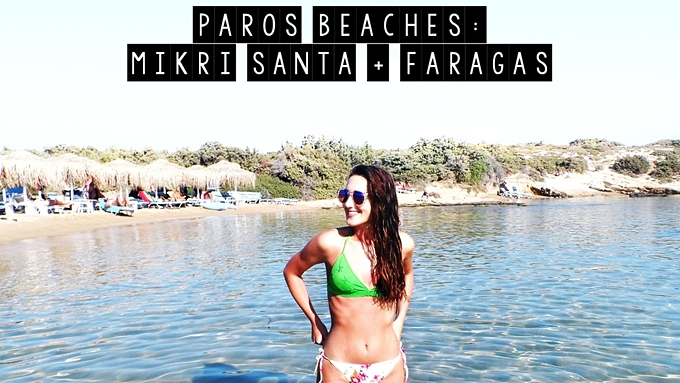 Paros island beaches travel video Faragas beach Mikri Santa beach