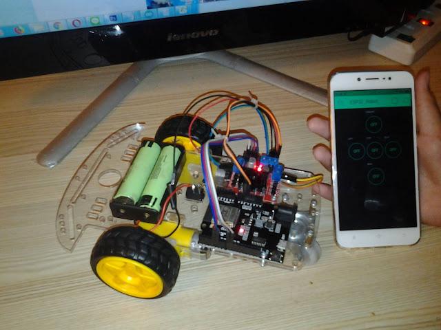 โปรเจค หุ่นยนต์ TTgo ESP32 ควบคุมด้วย แอพ Blynk